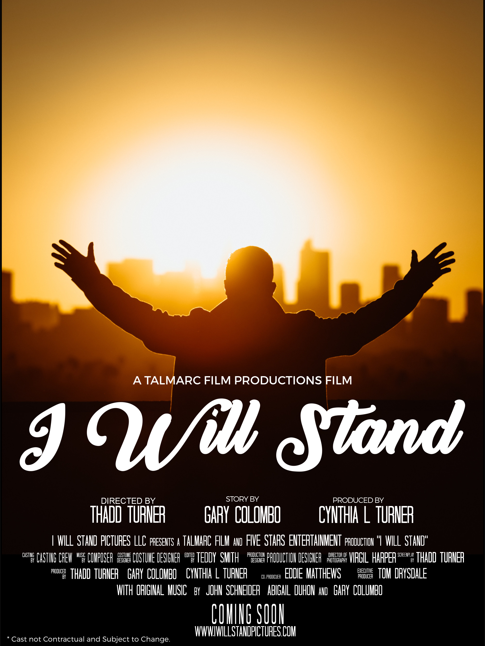 I WILL STAND Movie Poster no actors