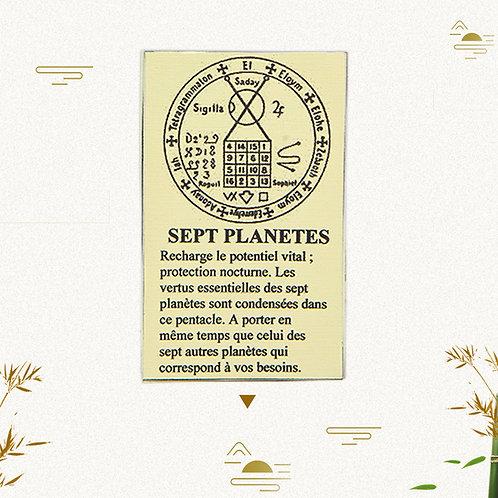 Pentacle 7 planètes