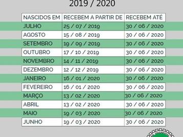 CALENDÁRIO PIS 2019/2020