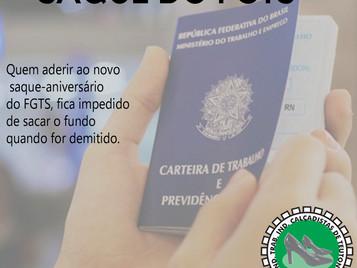 SAQUE DO FGTS PODE SER ARMADILHA