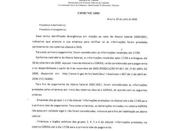 FALTA DE VALORES NO PIS 2020/2021