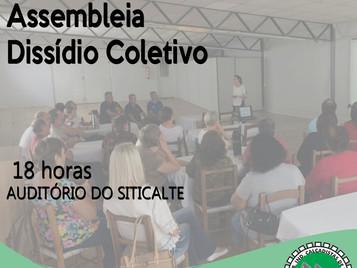 ASSEMBLEIA DE INSTAURAÇÃO DO DISSÍDIO SERÁ NO DIA 17
