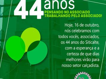 Siticalte comemora 44 anos de fundação