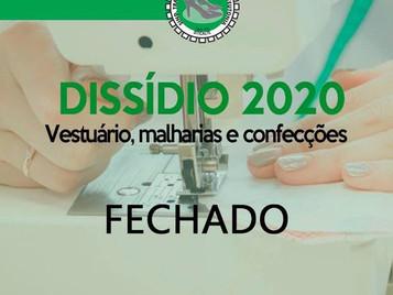 DISSÍDIO VESTUÁRIO FECHADO