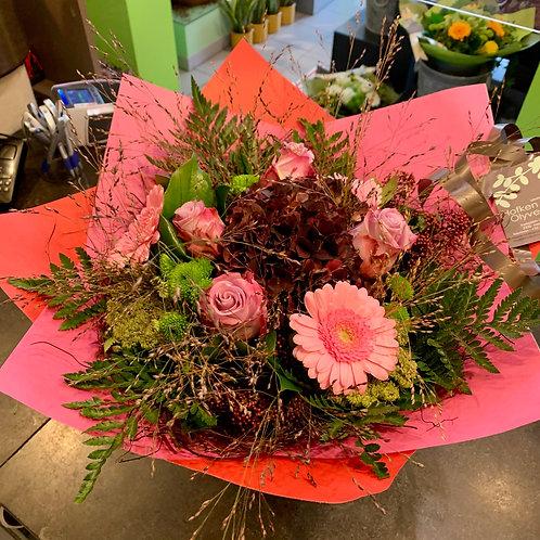 Boeket roze/fushia...
