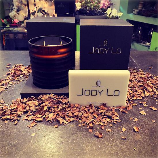 """Grote geurkaart 15 cm """"JADY LO"""" in zwart glas..."""