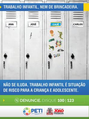Campanha Contra a exploração do trabalho infantil - Prefeitura de João Pessoa