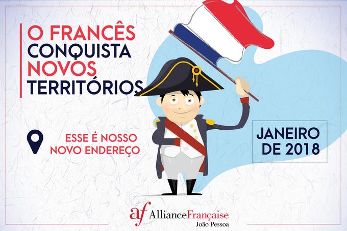 Campanha Divulgação novo endereço Alliance Française
