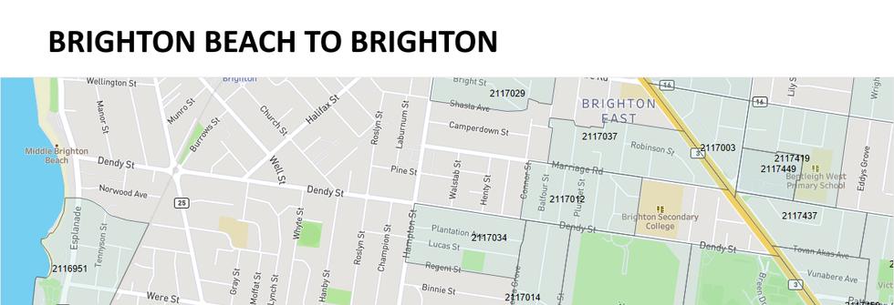 Brighton Beach to Brighton