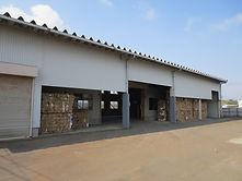 ダンボール圧縮工場