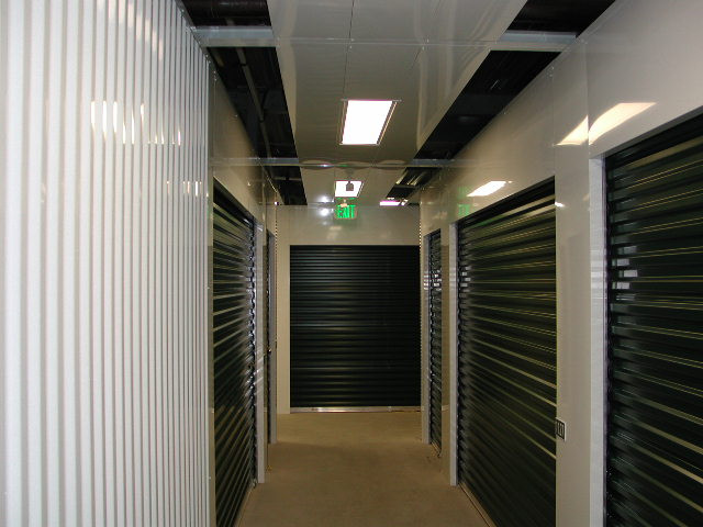Flush piers - headers - corrugated wall