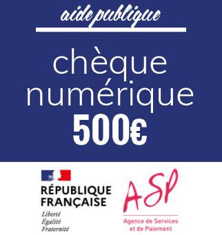 Chèque Numérique - 500€ - Última data 30 de junho 2021 - Detalhes, abaixo: