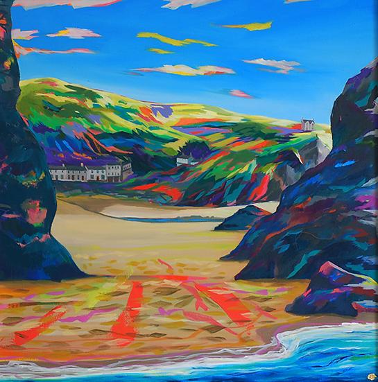 'All My Days By The Sea - Llangrannog' print