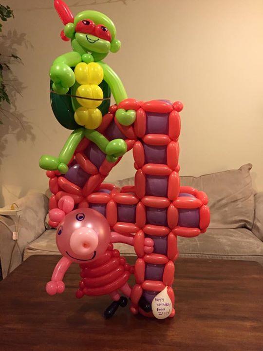 Ninja Turtle & Peppa Pig