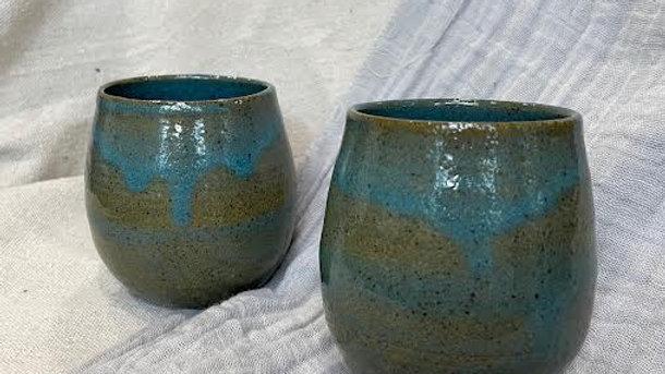 Wine Glass - Copper Blue