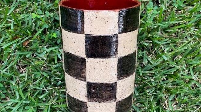 Checkered Tumbler - Deep Red