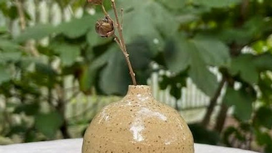 Mini Round Bud Vase - Clear