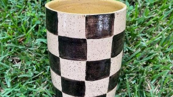 Checkered Tumbler - Marigold