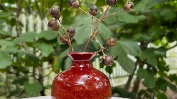 Mini Bud Vase - Deep Red