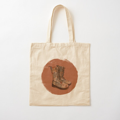 """""""These boots"""" tote bag"""