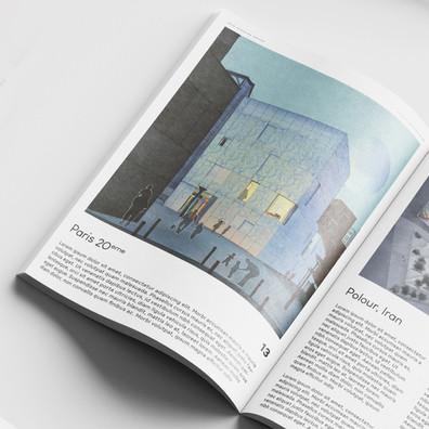 """""""La Maison Bleue"""" en revue d'archi"""