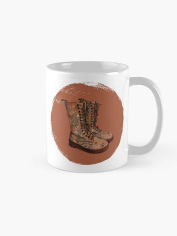 """These boots"" mug"