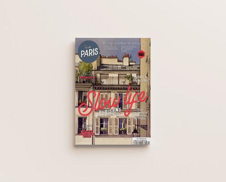 """""""Cour parisienne"""" en couverture de magazine lifestyle"""