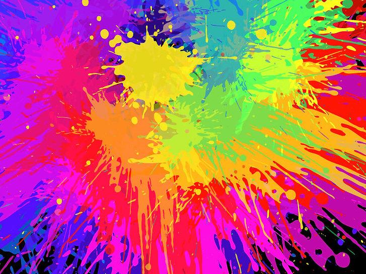 Colourful Bright Ink Splat Design Vector
