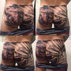 Intricate Butt Tattoo