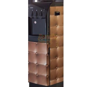 Кулер для воды Стеганная кожа бежевая с холодильником
