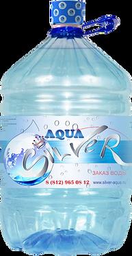 Вода Aqua Silver ПЭТ Одноразовая бутыль      19 литров