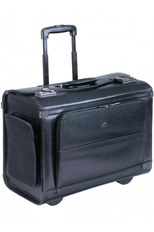 Wheeled Catalog Case - Leather