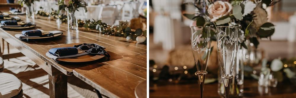 Michigan barn wedding rustic decor details