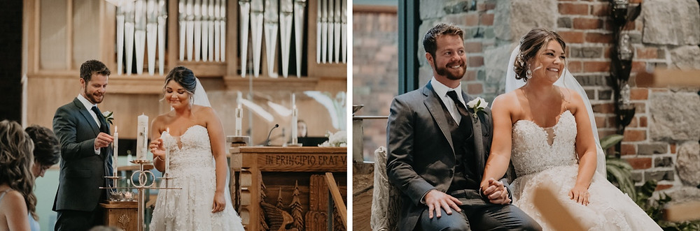 Catholic Mass wedding in Metro Detroit. Photographed by Nicole Leanne Photography.