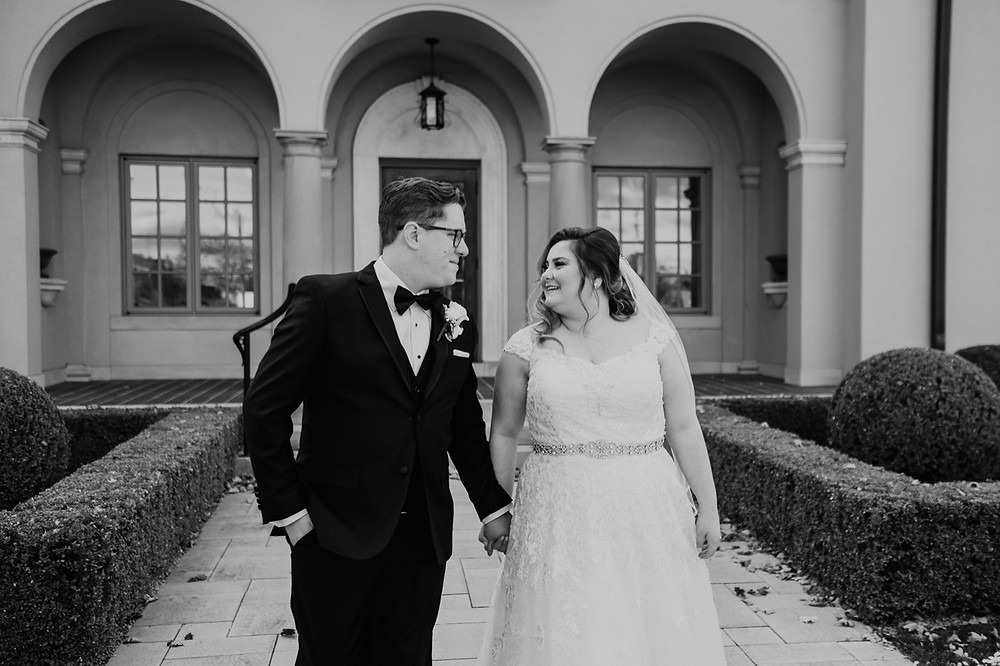 Metro Detroit wedding photos with bride and groom. Photographed by Nicole Leanne Photography.