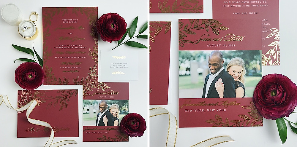 custom color wedding invitation