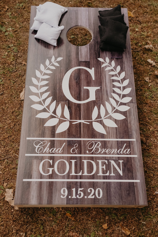 Michigan wedding customized corn hole boards