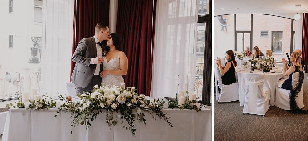 Bride and groom speech at wedding. Photographed by Nicole Leanne Photography.