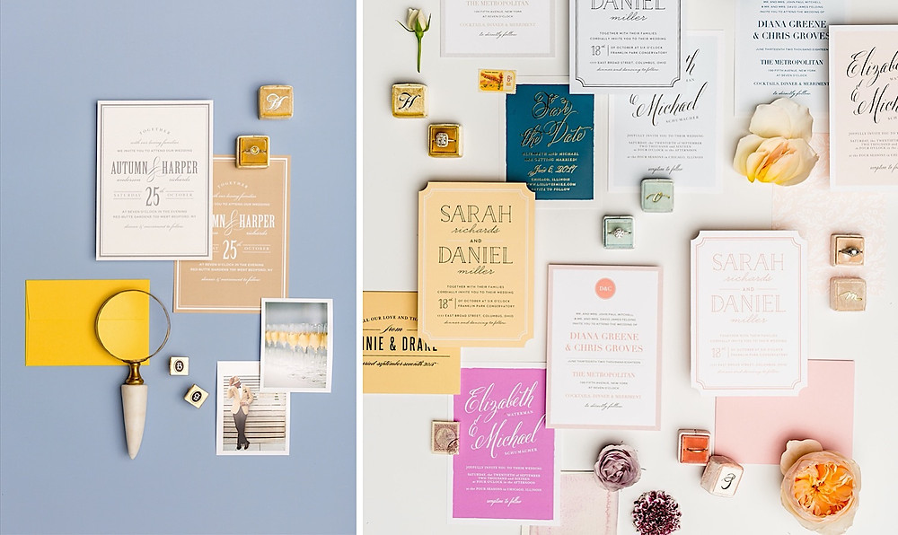 customized colors for wedding invitations