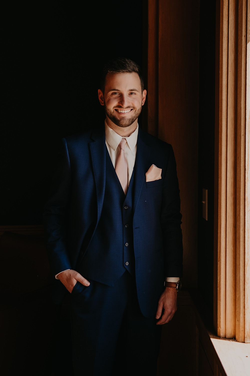 Groom before wedding day at Mission Point Resort in Mackinac. Photographed by Nicole Leanne Photography.