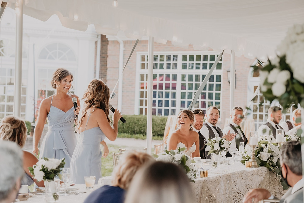 Wedding speech at intimate wedding. Photographed by Nicole Leanne Photography.