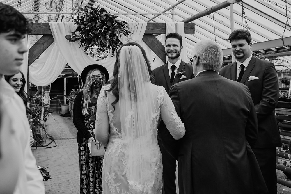 Wedding ceremony officiated by The Lost Forty. Photographed by Nicole Leanne Photography.