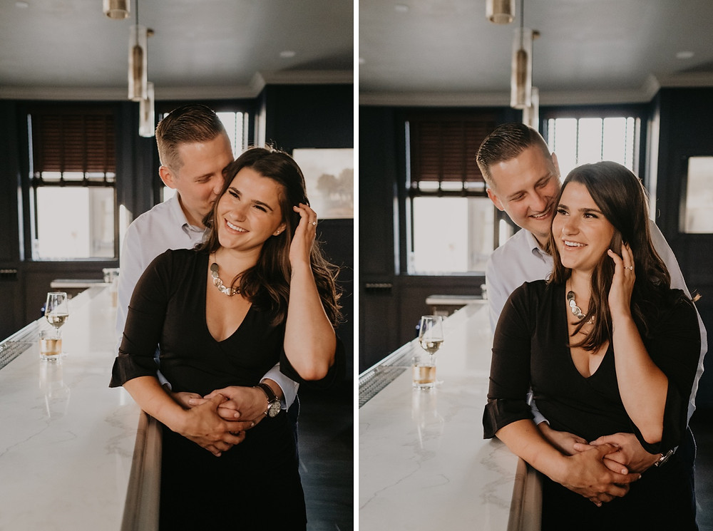 Detroit engagement session at The Monarch Club. Photographed by Nicole Leanne Photography.