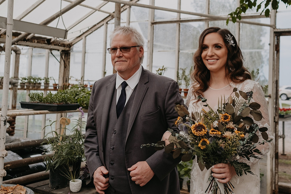 Graye's Greenhouse wedding. Photographed by Nicole Leanne Photography.