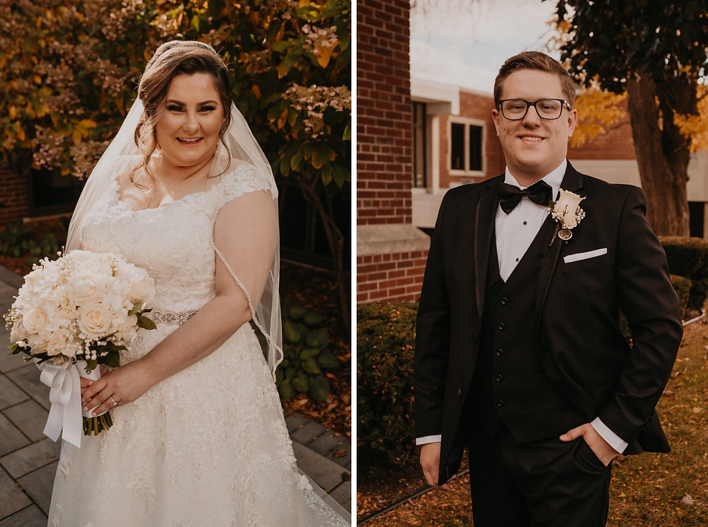 Bride and groom in Metro Detroit. Photographed by Nicole Leanne Photography.