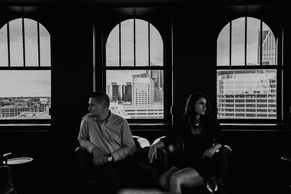 The Monarch Club photo session in black and white. Photographed by Nicole Leanne Photography.