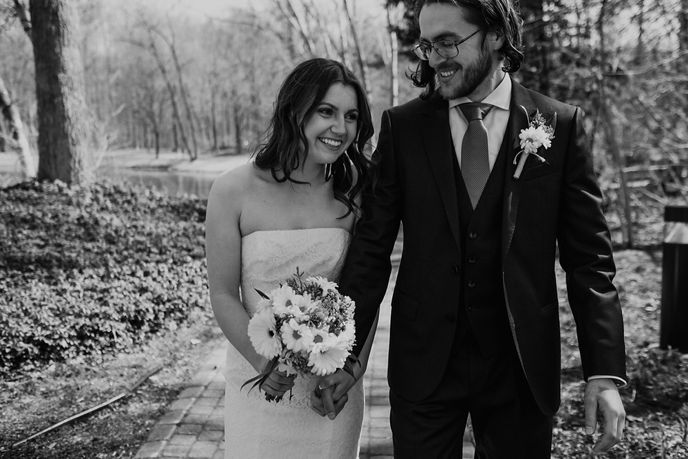 Heritage Park wedding ceremony in Metro Detroit. Photographed by Nicole Leanne Photography.