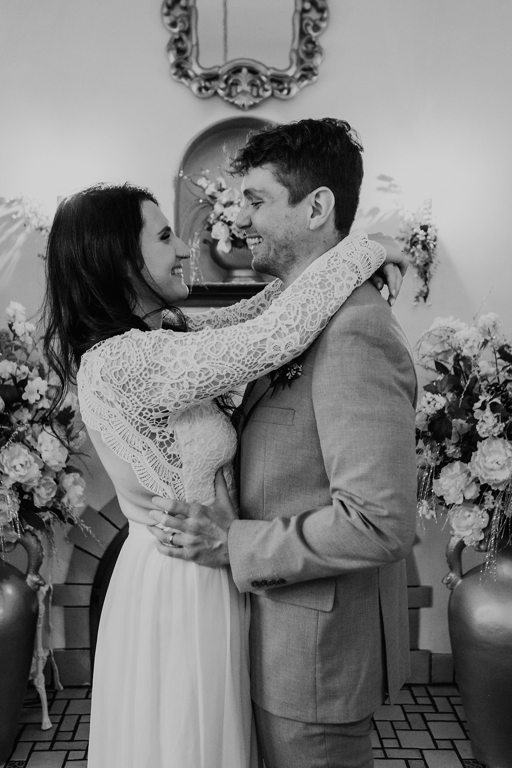 Metro Detroit couple getting married at Victoria Wedding Chapel. Photographed by Metro Detroit Wedding Photographer Nicole Leanne Photography