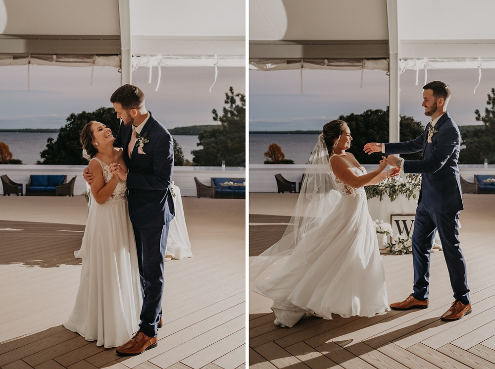 Wedding dancing together as husband and wife. Photographed by Nicole Leanne Photography.