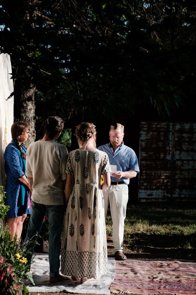 father speech, outdoor wedding